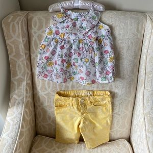 Set of girls size 110 cami and shorts size 5